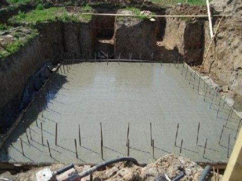 Монолитный бетон в подвале