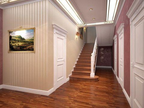 Дизайн холла цокольного этажа