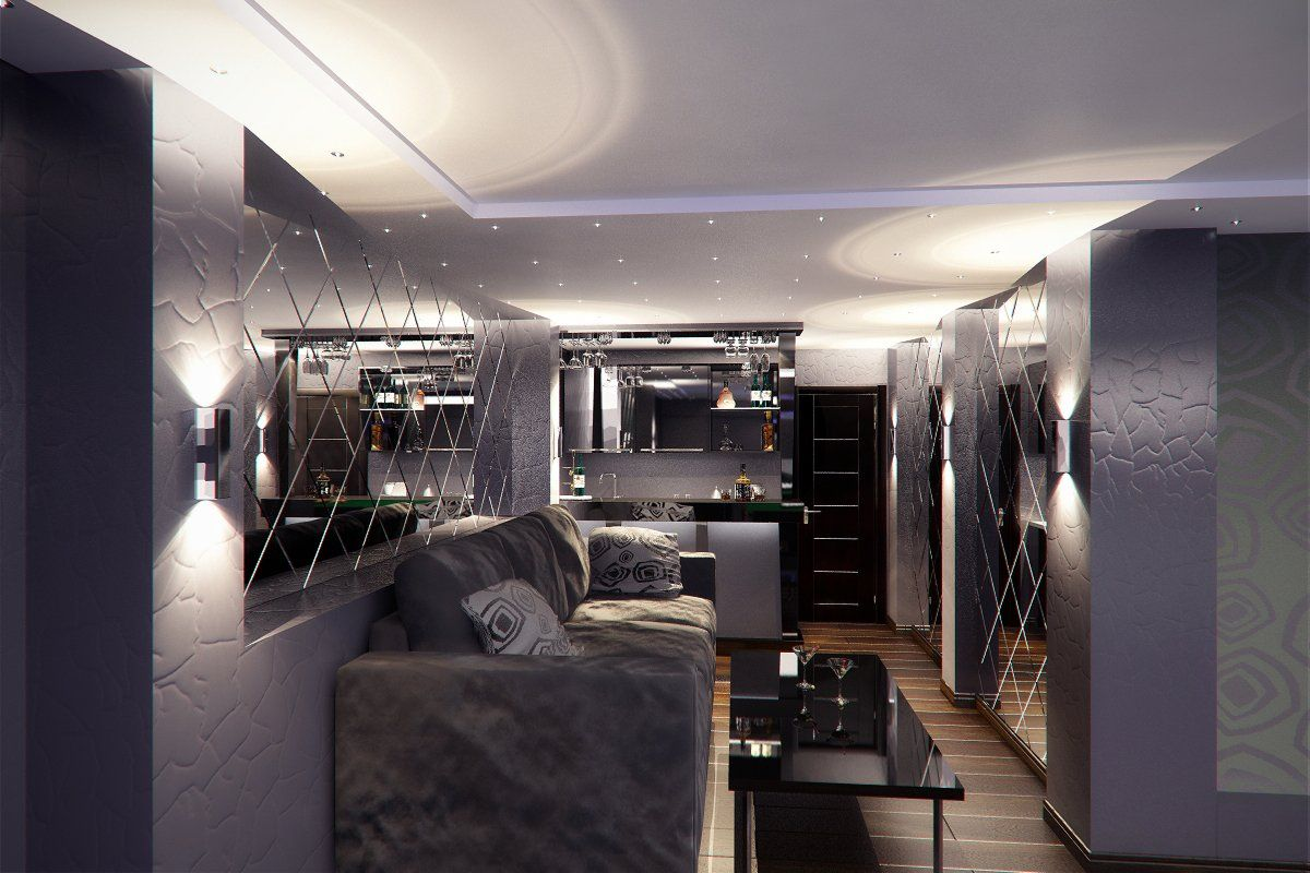 Отделка внутренняя цокольного этажа может выглядеть и так: комната отдыха