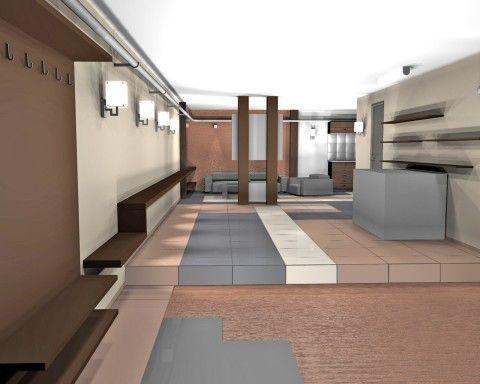 При наличии проекта, цокольный этаж после реконструкции может выглядеть так