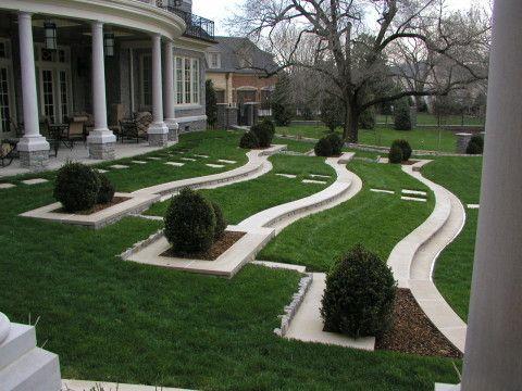 Террасирование – лучший способ планировки участка на холме