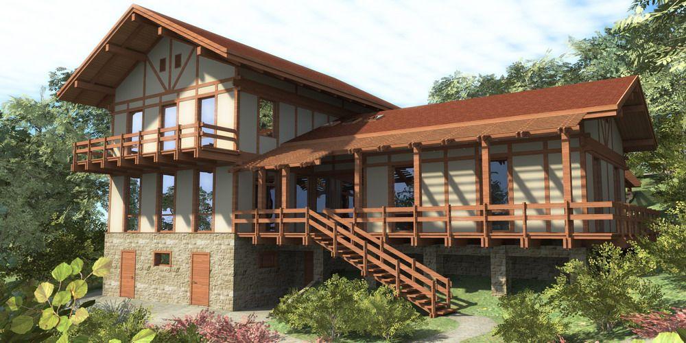 Цокольный этаж на склоне: проект для индивидуального использования