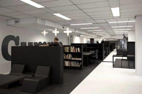 Вариант использования полузаглублённых помещений: читальный зал