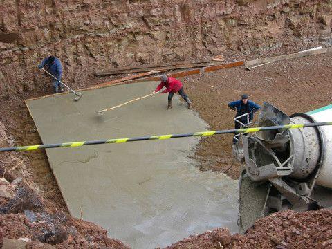 Выполнение бетонной подготовки