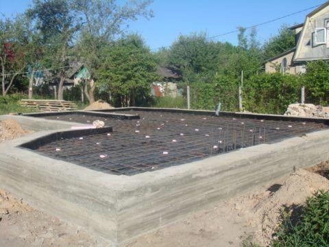 Армирование плиты по гидроизоляции