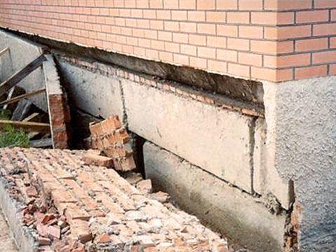 Разрушение цокольного этажа без гидроизоляции
