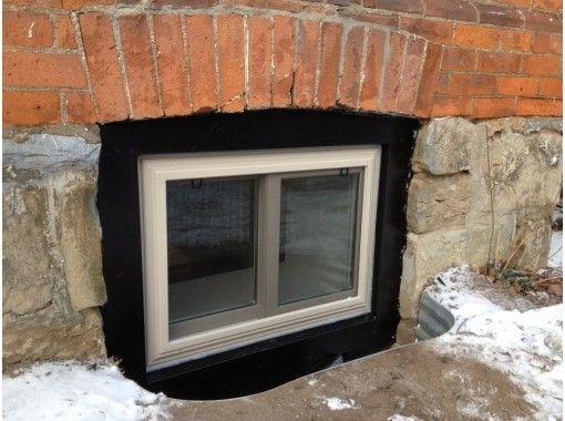 ПВХ окна идеально подходят для цокольного остекления
