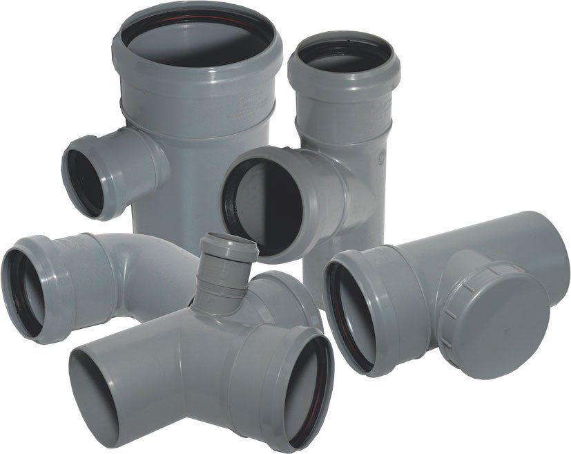 Пластиковая фасонина: герметичность соединений обеспечивается резиновыми кольцами