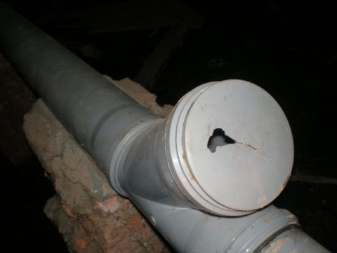 Для устранения запаха достаточно заменить заглушку в отводе тройника на целую