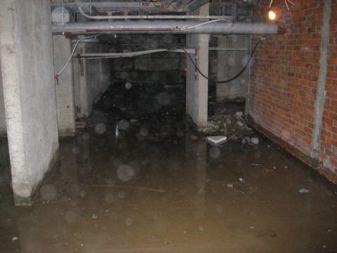 Затопленный стоками подвал
