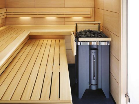 Баня на цокольном этаже с электропечью гораздо безопаснее, чем с дровяной