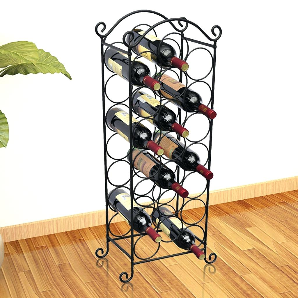 Легкий стеллаж для винных бутылок