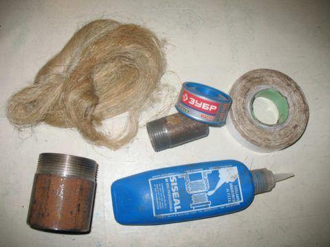Материалы для подмотки резьбовых соединений