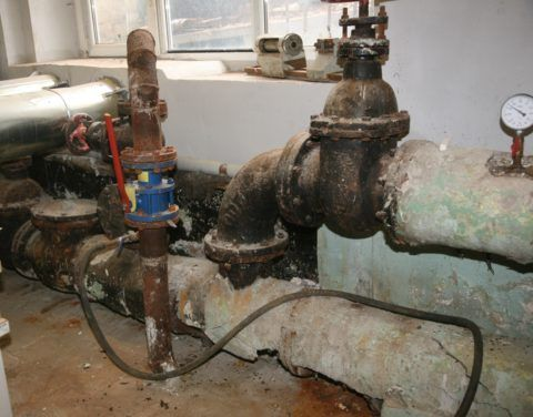 Замер давления в водомерном узле