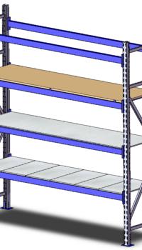 Готовый металлический стеллаж