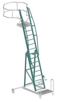 Передвижная конструкция лестницы-платформы