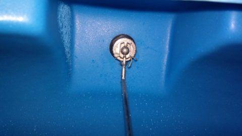 Поплавковый клапан: вид изнутри емкости