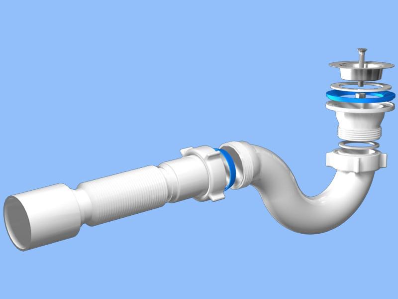 Стоящая в сифоне вода исключает появление запахов