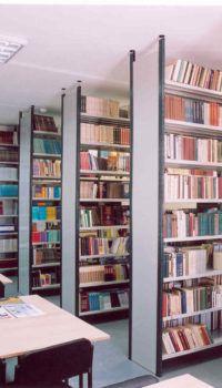 Размещение стеллажей в библиотеке