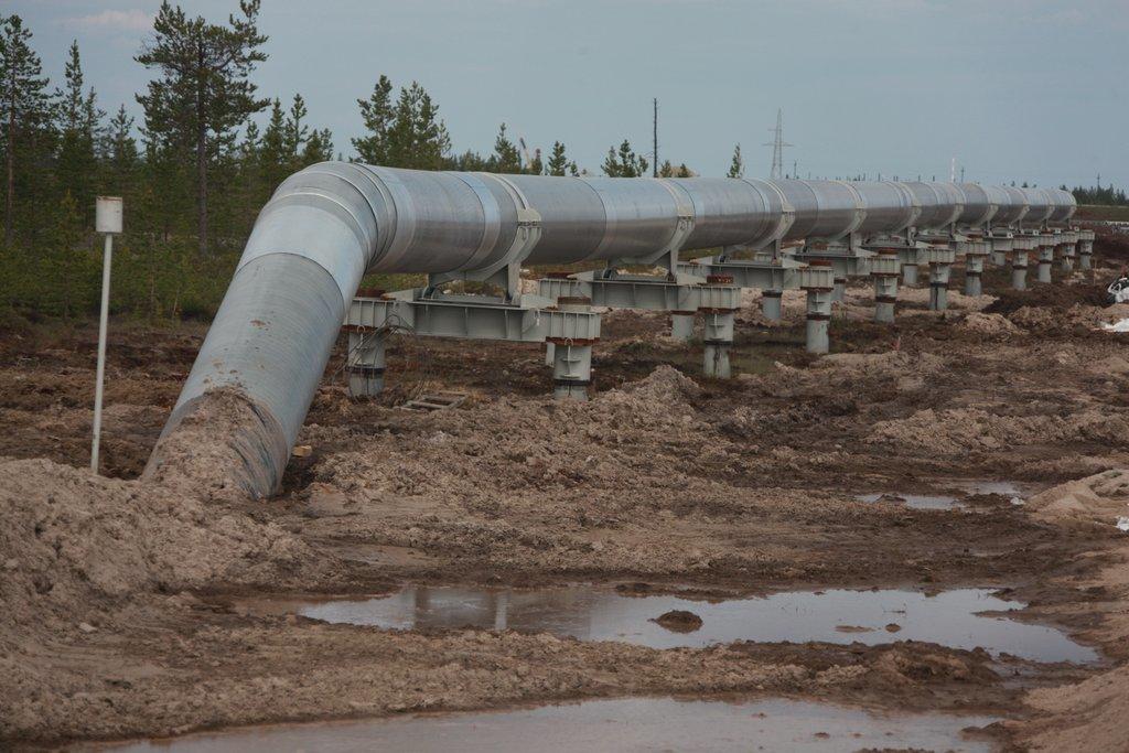 Магистральный водопровод на просадочном грунте