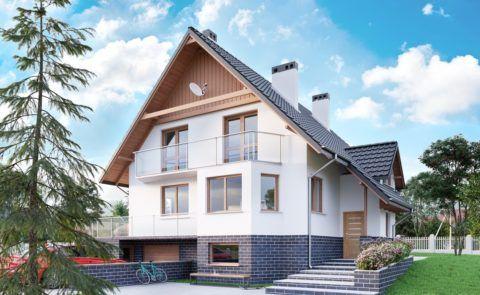 Дом 10х12 с цокольным этажом