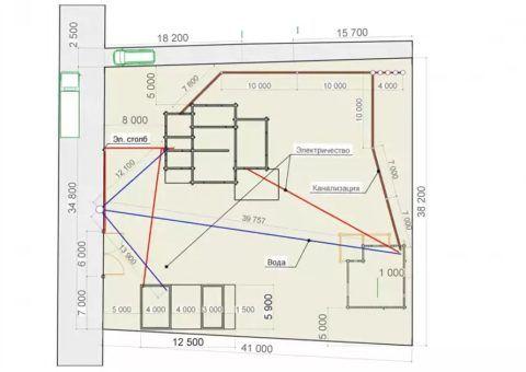 Дом с цокольным этажом 8 на 8 – привязка к участку