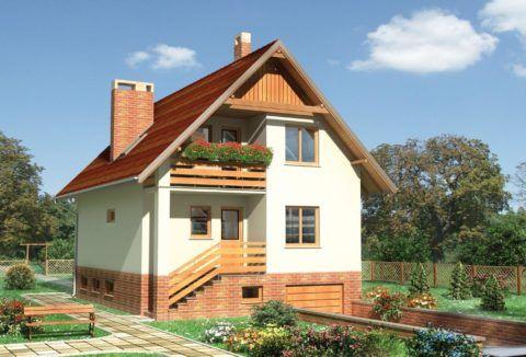 Гараж, находящийся в цокольном этаже, позволяет сэкономить площадь придомовой территории