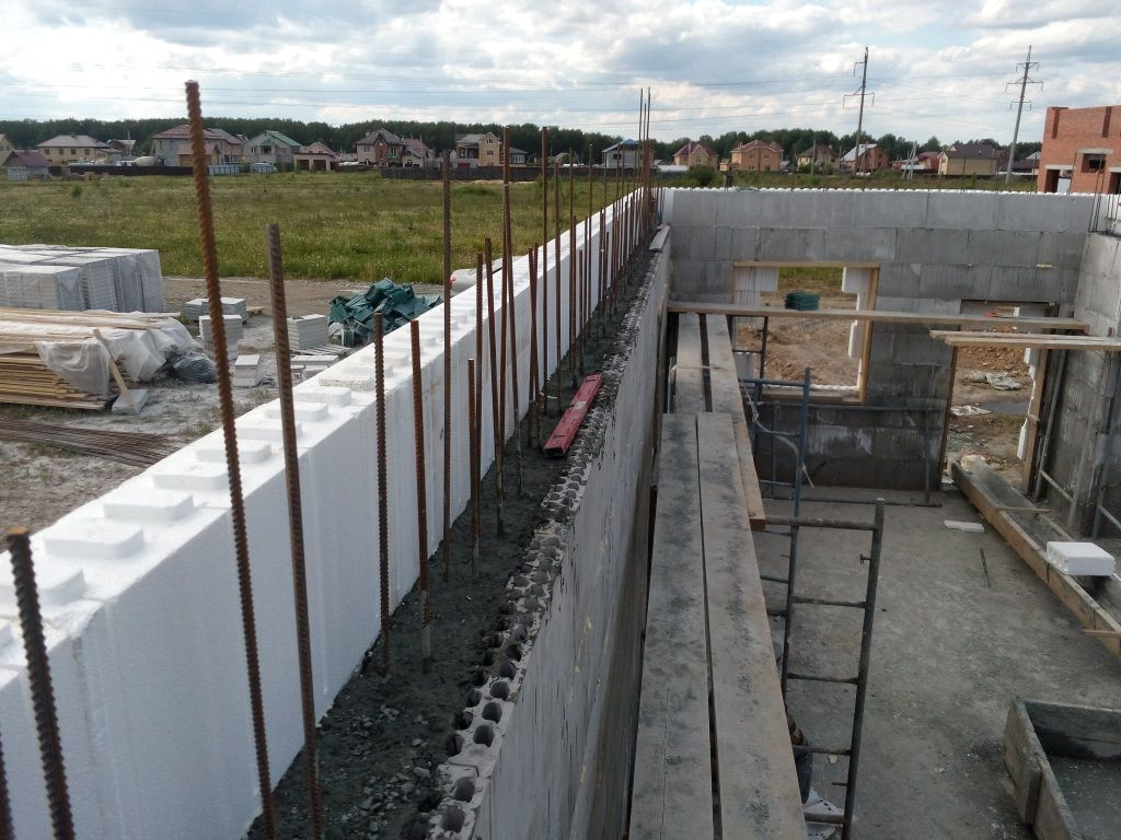 Монолитное бетонирование по несъёмной опалубке