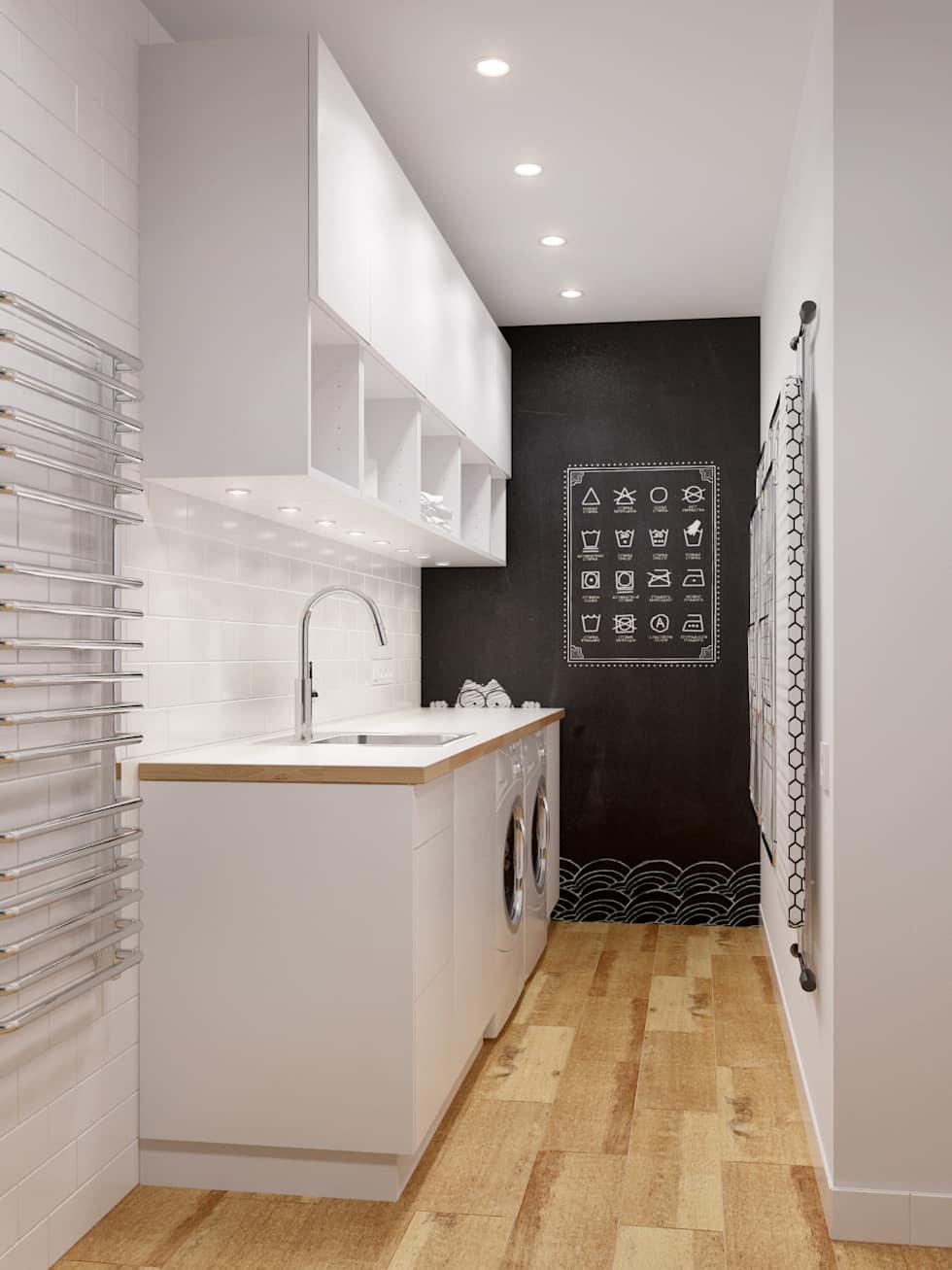 В домах бывают тупиковые коридорчики, которые можно использовать под мини-прачечную