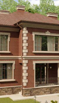 Дом в два этажа с подвалом и жилой мансардой