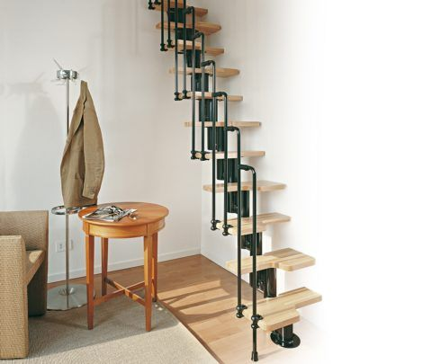 Если мало места: модульная лестница «утиный шаг»
