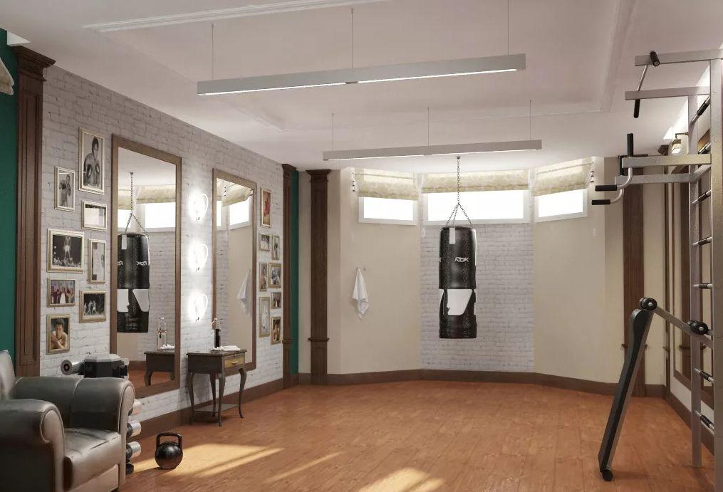 В обычной квартире всегда не хватает места для тренажёров, а цокольное помещение позволит решить проблему