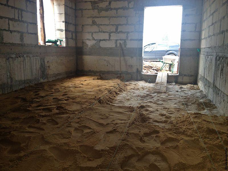 Устройство песчаной подушки