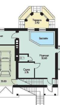 Гараж, сауна и бассейн в цокольном этаже