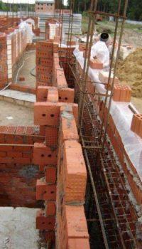 Опалубка из кирпича под монолитное бетонирование