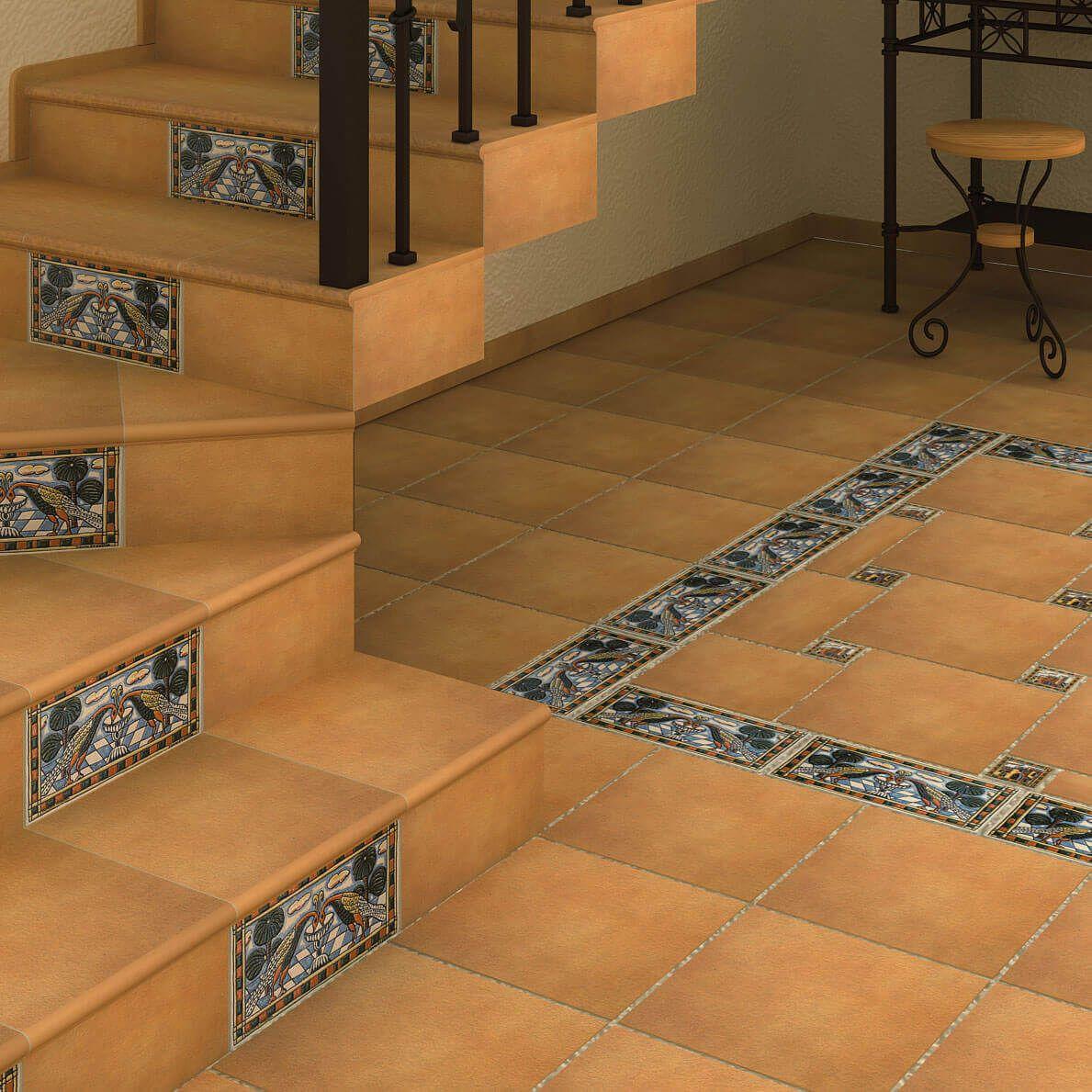 Клинкер в оформлении лестницы и примыкающего к ней помещения – для стиля прованс