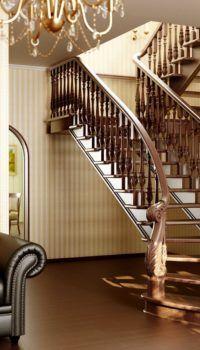 Полностью деревянная конструкция с декоративным ограждением