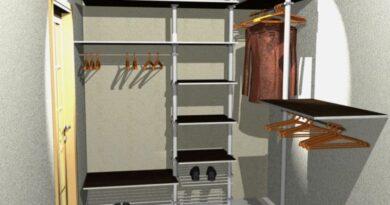 Дизайн проект гардеробных комнат